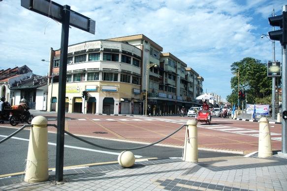 Jalanan di Georgetown, Pulau Penang
